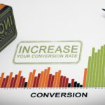 "lead conversion rate image showing the word ""increase"" stamped across a bar graph titled ""conversion"""