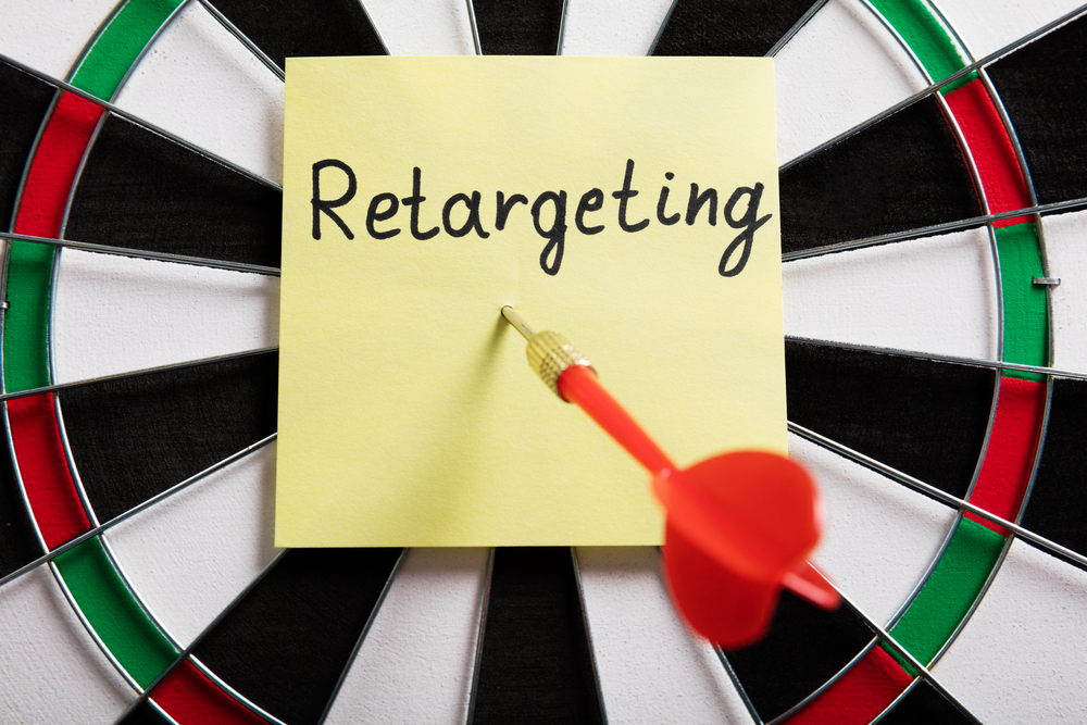 "image with the word ""retargeting"" on a dart board"
