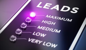 lead generation marketing image showing the level of intensity of leads